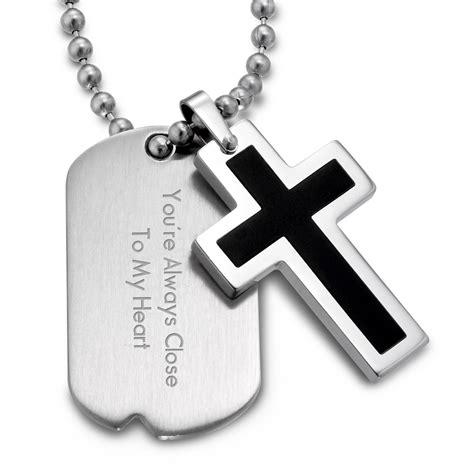 black cross dog tags