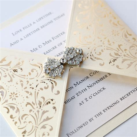laser cut wedding invitations ivory gatefold laser cut wedding invitation vintage