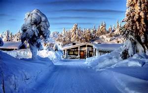 snow falling beautiful scenery