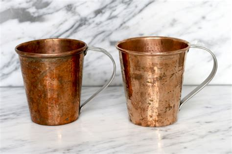 clean copper moscow mule mugs    dinner