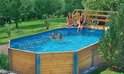 Swimmingpool Aus Holz by Bausatz Pool Schwimmbecken Pool Im Garten Holzpool