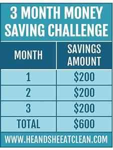 3 Month Money Saving Challenge — He & She Eat Clean ...