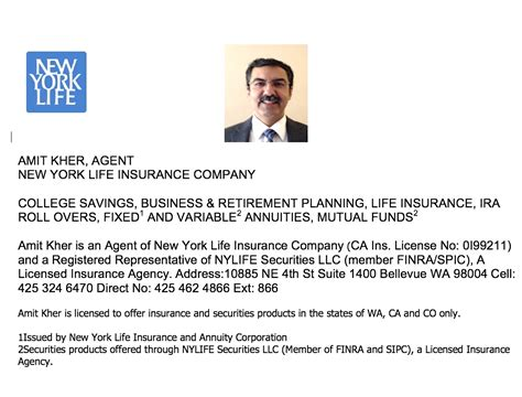 See how affordable term life coverage can be. New York Life Insurance Company Bellevue Insurance Agents Amit Kher Seattle Indian Insurance Agents
