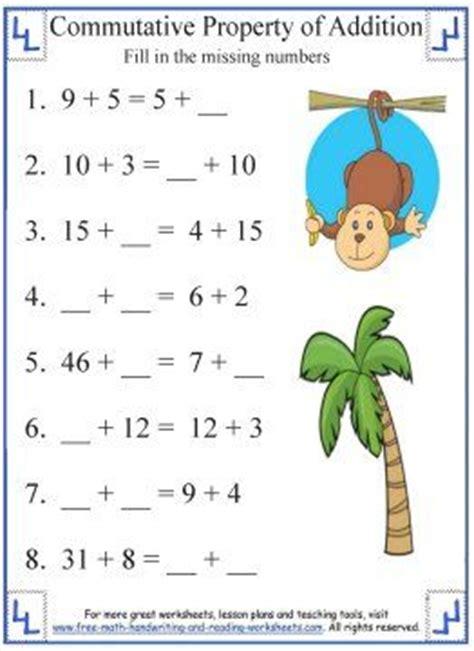 commutative property of addition addition worksheets
