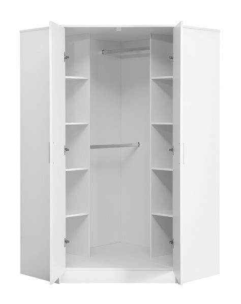 Corner Wardrobe by High Gloss White Matt White Bedroom Furniture Range 2
