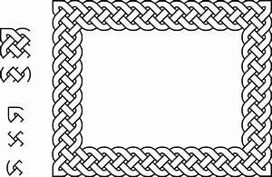 Clipart - 4-plait border rectangle