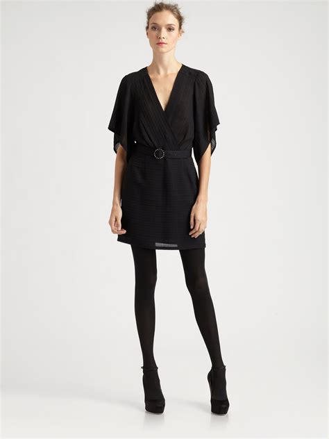 geisha dress black nanette lepore geisha dress in black lyst