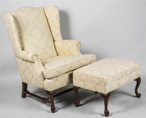 Queen Anne Style Wing Chair And Ottoman Ballard Designs Upholstered Dining Chairs Wooden Rocking Lowes Minnie Mouse Table And B M Pink Child Chair Plastic Outdoor Folding Lounge Children S Reclining Leather White Garden Tables World Market Adirondack Peacoat