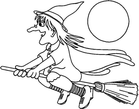Witch Coloring Pages Easy