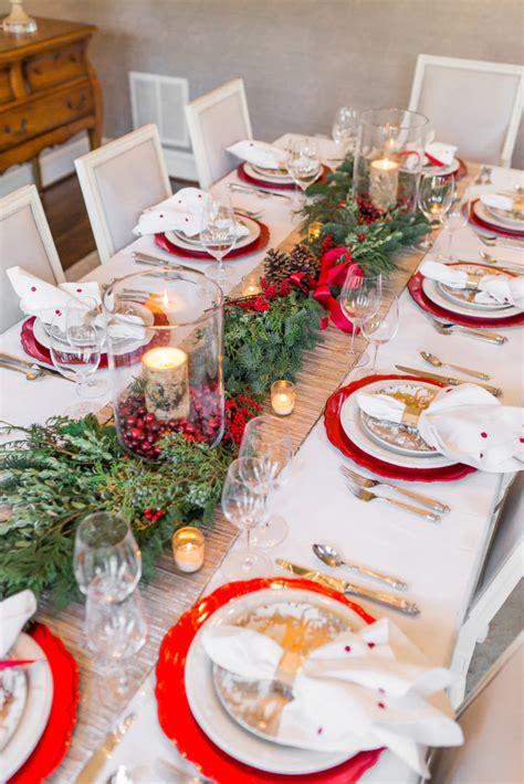 elegant christmas tablescape setting  perfect