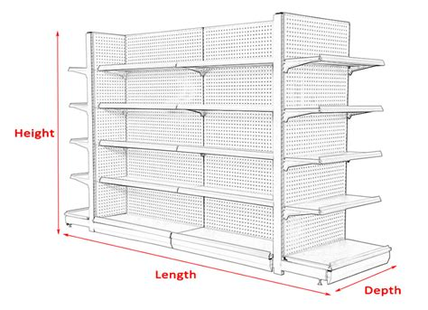 Supermarket Display Furniture Shelves Dimensions Can Be