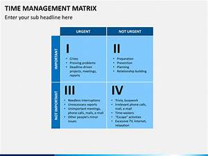 Time Management Matrix Powerpoint Template