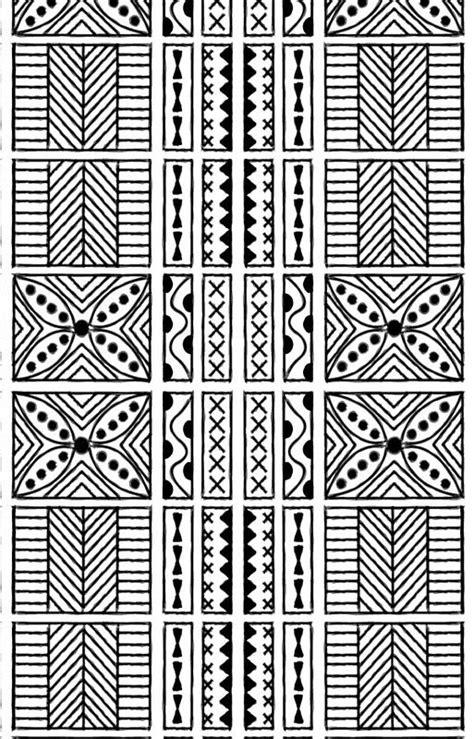 Black and White Geometric Hawaiian Bark Cloth Tribal Tattoo Markings Kapa | iPhone Case & Cover
