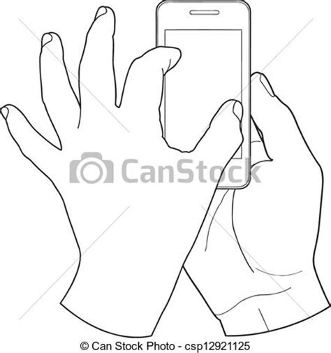 touch clipart black and white vector illustration of touch screen touch