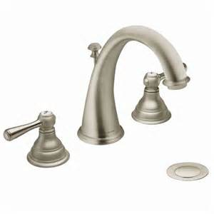 remove moen kitchen faucet kingsley brushed nickel two handle high arc bathroom faucet t6125bn moen