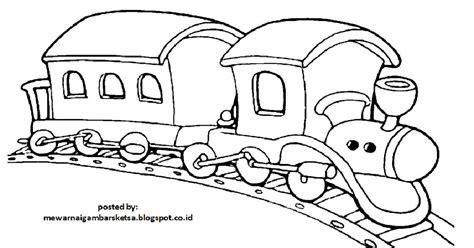 mewarnai gambar mewarnai gambar sketsa kendaraan kereta api