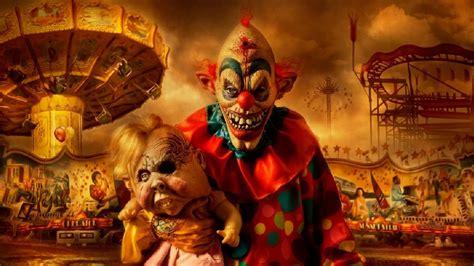 dark horror evil clown art artwork  wallpaper
