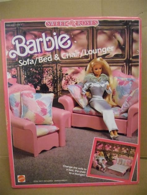 barbie sweet roses sofa bed  chair lounger