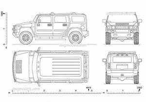 Hummer H2 2002 CAD Drawings Download Free AutoCAD Blocks