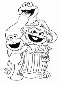 Free coloring pages of sesame street faces