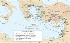 Apostle Paul Missionary Journey Maps