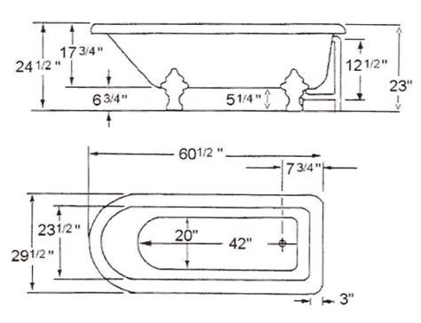 bootz tubs 3 4 length bathtub bathtubs venting a shower drain tub