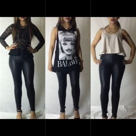 How to wear leather leggings for a night out!!!!! - YouTube