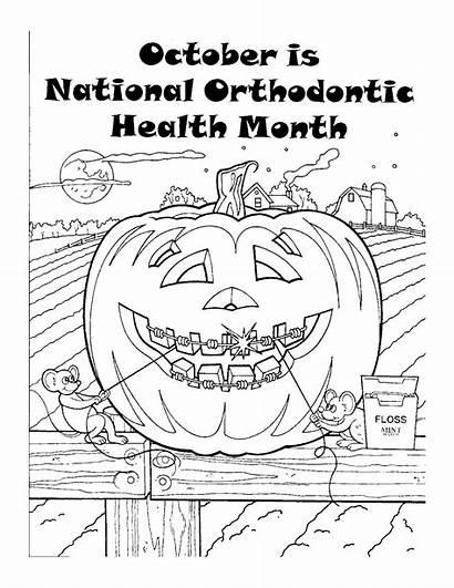 Coloring Pages Month Health Orthodontic National Months