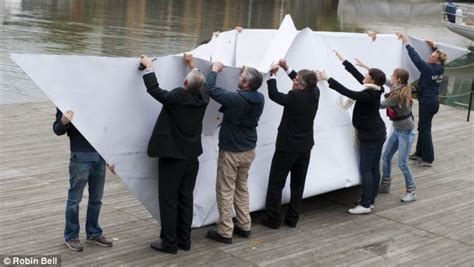 Biggest Paper Boat In The World by All Aboard Hms Origami What Happened When We Tested