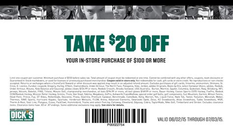 Dick Sporting Goods $20 Off Coupon Through July 3 ...