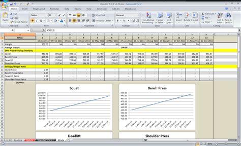 spreadsheet    gym