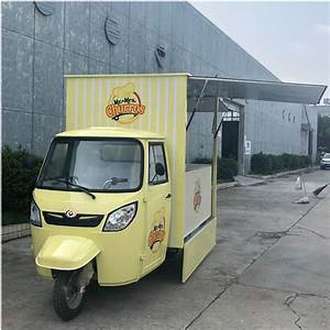 Ice Cream Mobile Hot Dog Electric Fast Food Cart Tricycle