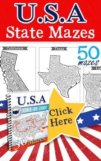 usa state mazes  crafty classroom