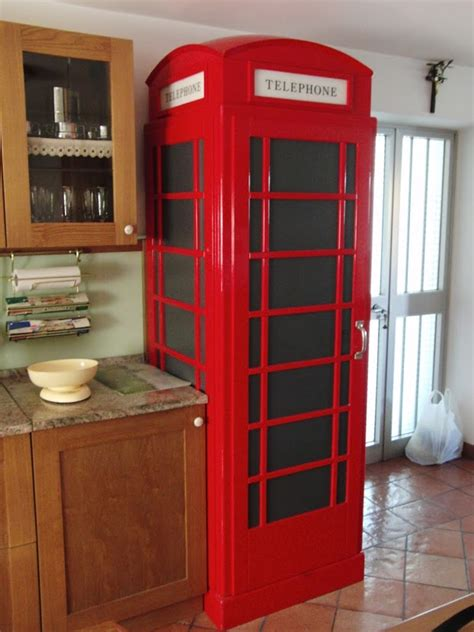cabina telefonica inglese arredamento cabina frigo style arredolegno