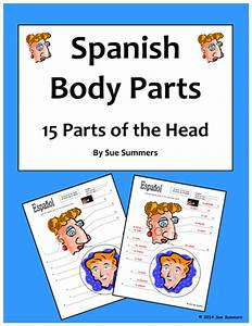 Spanish Body Parts Of The Head Diagram To Label