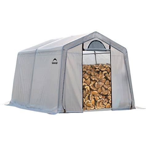 White Firewood Shed by Unique Portable Firewood Storage Rack With White Tarpaulin