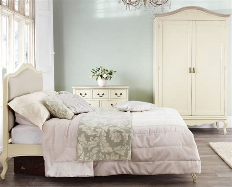 shabby chic upholstered headboard shabby chic chagne upholstered double bed