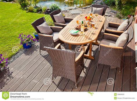 luxury rattan garden furniture stock photo image 35839320