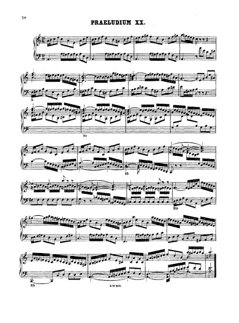 Prelude And Fugue In A Minor Bwv 865 Bach Johann