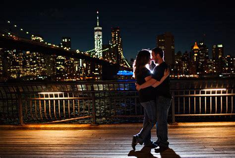 night portraits  brooklyn bridge park