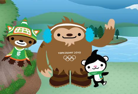 vancouver  olympic mascots unveiled core