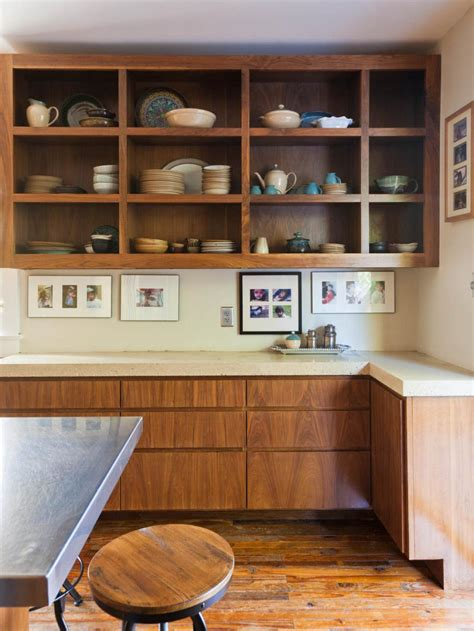 how to make oak cabinets look modern images of beautifully organized open kitchen shelving diy