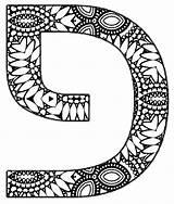 Hebrew Coloring Letters Decorated Script Alphabet Designs Vowels Mandala sketch template