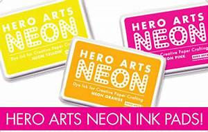 Stamped in His image Hero Arts Neon Ink Pads