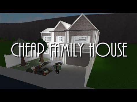 bloxburg cheap family house  youtube family house family house plans cheap family