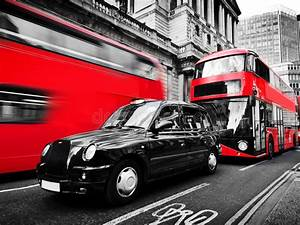 Symbols Of London, The UK. Red Buses, Black Taxi Cab ...