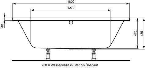 Maße Badewanne Standard by Badewanne Ma 223 E Standard Amilton