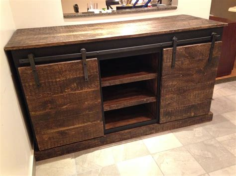 sliding barn door console    home projects