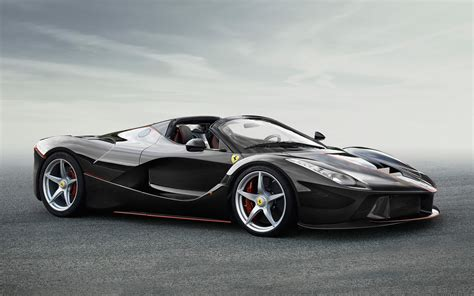 Black Ferrari Laferrari Spider Wallpaper 2016