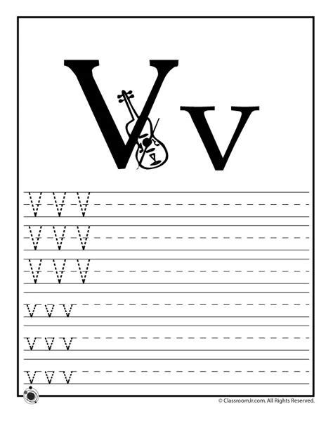 learn letter v woo jr activities